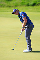 Paul Dunne (IRL)  on the 5th green during Round 4 of Made in Denmark at Himmerland Golf &amp; Spa Resort, Farso, Denmark. 27/08/2017<br /> Picture: Golffile | Thos Caffrey<br /> <br /> All photo usage must carry mandatory copyright credit     (&copy; Golffile | Thos Caffrey)