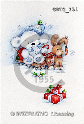 Theresa, CHRISTMAS ANIMALS, paintings(GBTG151,#XA#) Weihnachten, Navidad, illustrations, pinturas
