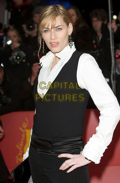 "GESINE CUKROWSKI.Premiere of ""Cheri"" during the 59th Berlin International Film Festival, Berlin, Germany, 10th February 2009..half length white shirt black vest .CAP/PPG.©Jens Hartmann/People PIcture/Capital Pictures"