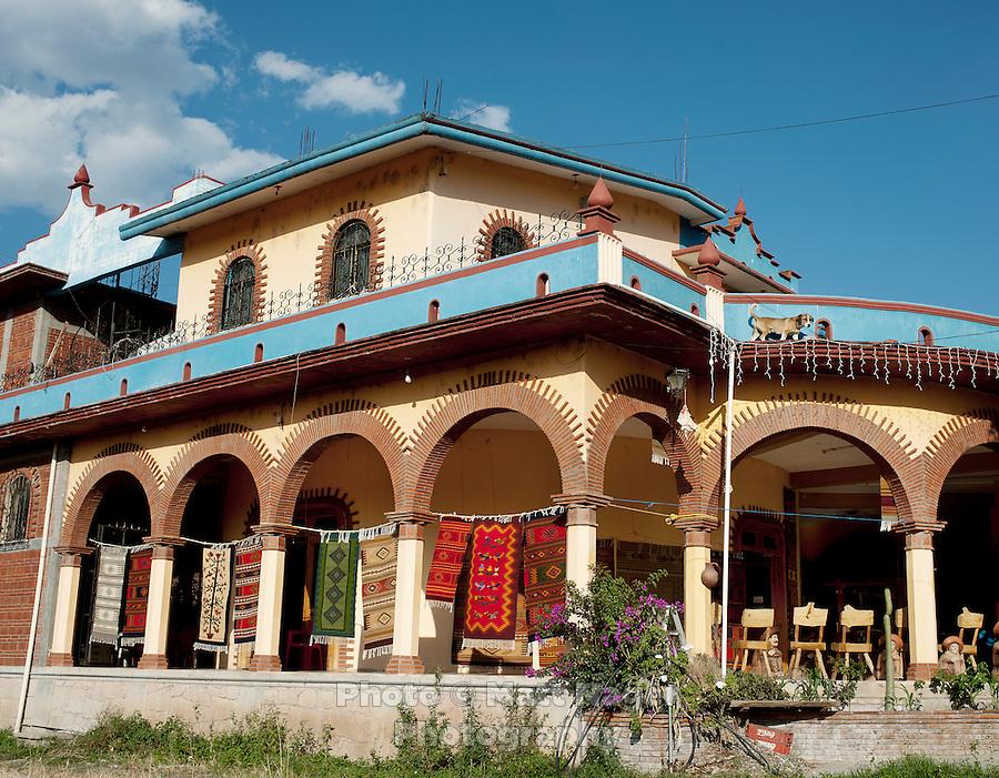 A weaving store in Teotitlan del Valle near Oaxaca, Mexico...Photo by Matt Nager