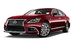 Low aggressive front three quarter view of a 2013 Lexus LS 460 4dr Rear-Wheel Drive Sedan