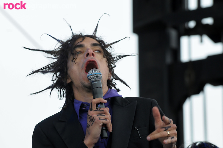 Little Jimmy Urine, front man of New York Electronic Punk band Mindless Self Indulgence performs @ The Bmaboozle Festival 2008 , Meadowlands NJ
