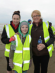 Julie, Ella and Paul Browing who took part in the St Mary's Drumcar 5K run on Bettystown beach. Photo:Colin Bell/pressphotos.ie