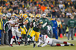 Green Bay Packers running back James Starks (44) carries the ball during an NFL divisional playoff football game against the New York Giants on January 15, 2012 in Green Bay, Wisconsin. The Giants won 37-20. (AP Photo/David Stluka)