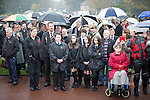 © Joel Goodman - 07973 332324 . No syndication permitted . 11/11/2012 . Lytham Park Crematorium , UK . Hundreds of strangers at the funeral of World War Two veteran Harold Jellicoe Percival today (Monday 11th November 2013) . The funeral is timed to coincide with the First World War armistice , the 95th anniversary of which is at 11am today (Monday 11th November 2013) . The RAF Bomber Command veteran died in his sleep on 25th October 2013 , aged 99 , at Alistre Lodge Nursing Home in St Annes , Lancashire , with no immediate family . Photo credit : Joel Goodman