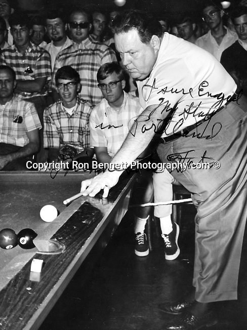 "Rudolf Walter Wanderone, Jr. was an American pocket billiards player best known as ""Minnesota Fats"" most publicly recognized pool player in the United States, Wanderone was inducted in the Billiard Congress of American Hall of Fame,  Wanderone was a traveling pool hustler an hustled servicemen in Norfolk Virginia and was in the film The Hustler,"