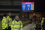 The electronic scoreboard displays the final score at the Paisley2021 Stadium after Scottish Championship side St Mirren played Welsh champions The New Saints in the semi-final of the Scottish Challenge Cup for the right to meet Dundee United in the final. The competition was expanded for the 2016-17 season to include four clubs from Wales and Northern Ireland as well as Scottish Premier under-20 teams. Despite trailing at half-time, St Mirren won the match 4-1 watched by a crowd of 2044, including 75 away fans.