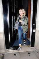 LONDON, ENGLAND - OCTOBER 08 :  Zoe Ball leaves the production of 'Strictly Come Dancing : It Takes Two', at The Hospital Club Studios on October 08, 2018 in London, England.<br /> CAP/AH<br /> &copy;AH/Capital Pictures