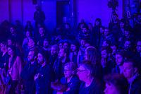 Brussels, Belgium: Public of festival Propulse at the Botanique, February 2018.
