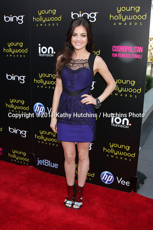 LOS ANGELES - MAY 20:  Lucy Hale arriving at the 2011 Young Hollywood Awards at Club Nokia at LA Live on May 20, 2011 in Los Angeles, CA