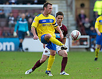 Hearts v St Johnstone...05.02.12.. Scottish Cup 5th Round.Jody Morris and Ian Black.Picture by Graeme Hart..Copyright Perthshire Picture Agency.Tel: 01738 623350  Mobile: 07990 594431