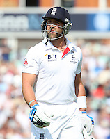 Matt Prior of England walks off after losing his wicket - England vs Australia - 5th day of the 5th Investec Ashes Test match at The Kia Oval, London - 25/08/13 - MANDATORY CREDIT: Rob Newell/TGSPHOTO - Self billing applies where appropriate - 0845 094 6026 - contact@tgsphoto.co.uk - NO UNPAID USE