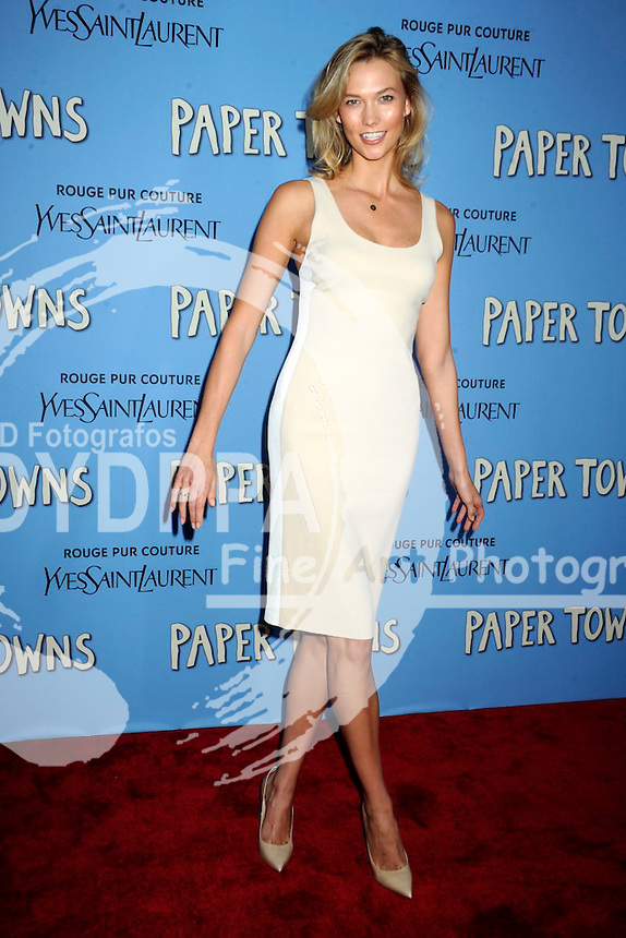 Karlie Kloss attending the 'Paper Towns' premiere at AMC Loews Lincoln Square on July 21, 2015 in New York Cit