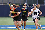 Maryland's Kali Hartshorn (16) against Penn State on April 20, 2017. No. 1 Maryland defeated No. 5 Penn State 16-14.  Photo/Craig Houtz