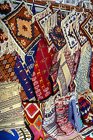 Tunisia.  Tunis Medina.  Fabric Souvenirs.