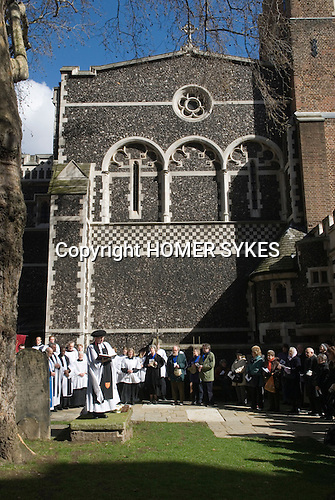 Butterworth Charity. Easter Good Friday. Priory Church of St Bartholomews the Great. London. UK 2008.