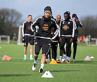 Ki Sung Yueng during the Swansea City FC training at Fairwood training ground in Wales, UK on Wednesday 06 April 2016