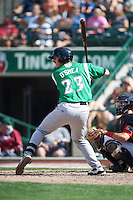 Dayton Dragons first baseman Nick O'Shea #23 during a Midwest League game against the Fort Wayne TinCaps at Parkview Field on August 19, 2012 in Fort Wayne, Indiana.  Dayton defeated Fort Wayne 5-1.  (Mike Janes/Four Seam Images)