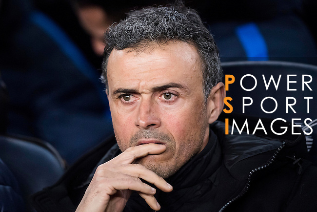 Coach Luis Enrique Martinez Garcia of FC Barcelona looks on prior to the Copa del Rey 2016-17 Semi-final match between FC Barcelona and Atletico de Madrid at the Camp Nou on 07 February 2017 in Barcelona, Spain. Photo by Diego Gonzalez Souto / Power Sport Images