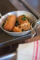 France, Nord (59),Quaedypre:  Croquettes de crevettes grises,  recette de l'Estaminet: Taverne du Westhoeck //  France, Nord, Quaedypre: Estaminet: Shrimp croquettes, reciepe by Taverne du Westhoeck