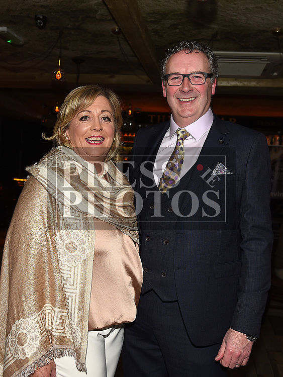 Hughie and Paula O'Neill at the Ardee Traders Dinner in Muldoons. Photo:Colin Bell/pressphotos.ie