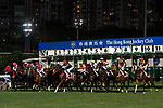 Jockeys riding their horses during the race 1 of Hong Kong Racing at Happy Valley Race Course on November 29, 2017 in Hong Kong, Hong Kong. Photo by Marcio Rodrigo Machado / Power Sport Images