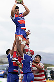 Damon Leasuasua takes easy lineout ball. Counties Manukau Premier Club Rugby game between Karaka and Ardmore Marist, played at the Karaka Sports Park on Saturday April 21st 2008. Ardmore Marist won the game 29 - 7 after being 7 all at halftime.<br /> Karaka 7 -Kalione Hala try, Juan Benadie conversion.<br /> Ardmore Marist South Auckland Motors (Counties Power Cup Holders) 29 - Sione Tuipulotu, Bryan Mulitalo, Damon Leasuasu, Joseph Ikenasio tries, Latiume Fosita 3 conversions, Latiume Fosita penalties.<br /> Photo by Richard Spranger