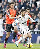 Real Madrid's Isco (r) and Real Sociedad's Esteban Granero during La Liga match.January 31,2015. (ALTERPHOTOS/Acero) /NortePhoto<br /> /NortePhoto.com