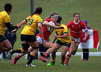 Karen Paquin in action during the 2017 International Women's Rugby Series rugby match between Canada and Australia Wallaroos at Smallbone Park in Rotorua, New Zealand on Saturday, 17 June 2017. Photo: Dave Lintott / lintottphoto.co.nz