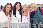 Caoimhe Roche, Danielle O'Donoghue, Mairead McEnery and Breda Fitzgerald all from Abbeyfeale pictured at Glenbeigh Races at Rossbeigh Beach on Sunday.