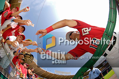 4 September 2006: Melvin Dorta, infielder for the Washington Nationals, signs autographs prior to a game against the St. Louis Cardinals. The Nationals defeated the Cardinals 4-1 at Robert F. Kennedy Memorial Stadium in Washington, DC...Mandatory Photo Credit: Ed Wolfstein..