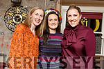 Gemma Smith (Killarney) celebrating her 40th birthday in Croi on Friday night.<br /> Joanne Riordan (Lisselton), Gemma Smith and Deirdre Twomey (Castleisland).