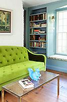 classic velvet green sofa