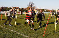 Photo: Richard Lane/Richard Lane Photography. Heroes Rugby Challenge in aid of Help for Heros North training at Wasps training ground, Twyford Avenue.  30/11/2011. Danny Grewcock.