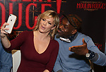 """Robyn Hurder and Sahr Ngaujah during the """"Moulin Rouge! The Musical"""" - Vinyl Release signing at Sony Square on December 13, 2019 in New York City."""