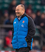 England's Head Coach Eddie Jones<br /> <br /> Photographer Bob Bradford/CameraSport<br /> <br /> 2018 Quilter Internationals - England v Australia - Saturday 24th November 2018 - Twickenham - London<br /> <br /> World Copyright &copy; 2018 CameraSport. All rights reserved. 43 Linden Ave. Countesthorpe. Leicester. England. LE8 5PG - Tel: +44 (0) 116 277 4147 - admin@camerasport.com - www.camerasport.com