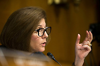 United States Senator Catherine Cortez Masto (Democrat of Nevada), asks a question during a hearing entitled 'Protecting Consumers in the Era of Major Data Breaches' before the US Senate Commerce, Science, and Transportation Committee on Capitol Hill in Washington, D.C. on November 8th, 2017. <br /> Credit: Alex Edelman / CNP /MediaPunch