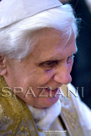 Pope Benedict XVI celebrates a rosary prayer at Saint Mary Major Basilica in Rome..May 3, 2008  ..