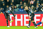 03.01.2015.  Leicester, England. FA Cup 3rd Round. Leicester versus Newcastle United. Cheick Tiote (Newcastle United) crosses the ball into the box.