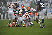 29 October 2011:  Illinois DE Whitney Mercilus (85)..The Penn State Nittany Lions defeated the Illinois Fighting Illini 10-7 to at Beaver Stadium in State College, PA.