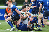 Luke Carter of Ealing Trailfinders breaks free to score a try during the British & Irish Cup Final match between Ealing Trailfinders and Leinster Rugby at Castle Bar, West Ealing, England  on 12 May 2018. Photo by David Horn / PRiME Media Images.