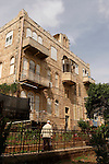 Israel, Carmel. A building in Wadi Nisnas, Haifa