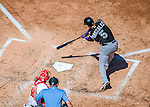 28 August 2016: Colorado Rockies outfielder Carlos Gonzalez in action against the Washington Nationals at Nationals Park in Washington, DC. The Rockies defeated the Nationals 5-3 to take the rubber match of their 3-game series. Mandatory Credit: Ed Wolfstein Photo *** RAW (NEF) Image File Available ***