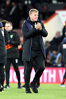 A happy Bournemouth manager Eddie Howe at full-time during AFC Bournemouth vs Norwich City, Caraboa Cup Football at the Vitality Stadium on 30th October 2018
