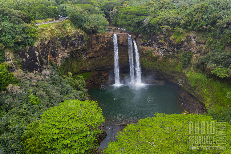 Wailua Falls in the Kawaihau district of Kaua'i.