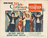 White Christmas (1954) <br /> Lobby card with Bing Crosby, Danny Kaye &amp; Rosemary Clooney<br /> *Filmstill - Editorial Use Only*<br /> CAP/KFS<br /> Image supplied by Capital Pictures