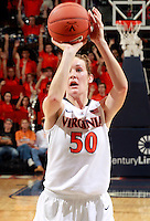 CHARLOTTESVILLE, VA- NOVEMBER 20: Chelsea Shine #50 of the Virginia Cavaliers shoots a free throw during the game on November 20, 2011 against the Tennessee Lady Volunteers at the John Paul Jones Arena in Charlottesville, Virginia. Virginia defeated Tennessee in overtime 69-64.(Photo by Andrew Shurtleff/Getty Images) *** Local Caption *** Chelsea Shine