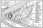 Diagram of the city of pittsburgh in 1800 with city businesses and residents