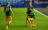 Preston North End's Brad Potts celebrates scoring his side's third goal with teammates<br /> <br /> Photographer Alex Dodd/CameraSport<br /> <br /> The EFL Sky Bet Championship - Sheffield Wednesday v Preston North End - Wednesday 8th July 2020 - Hillsborough - Sheffield<br /> <br /> World Copyright © 2020 CameraSport. All rights reserved. 43 Linden Ave. Countesthorpe. Leicester. England. LE8 5PG - Tel: +44 (0) 116 277 4147 - admin@camerasport.com - www.camerasport.com
