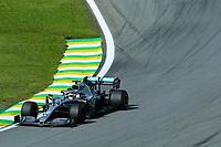 17th November 2019; Autodromo Jose Carlos Pace, Sao Paulo, Brazil; Formula One Brazil Grand Prix, Race Day; Lewis Hamilton (GBR) Mercedes AMG F1 W10 - Editorial Use